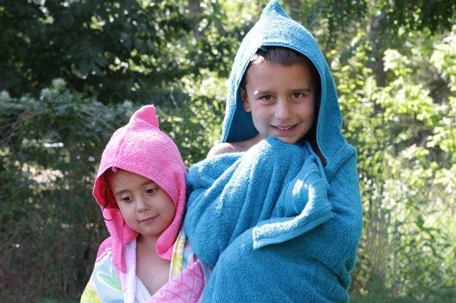 Çocuklar için Plaj Havlusu